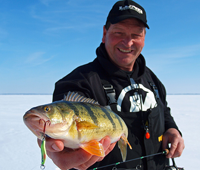 image links to article about ice fishing for perch