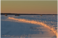 image of plowed ice road