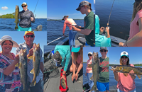 image of rainy lake fishing collage
