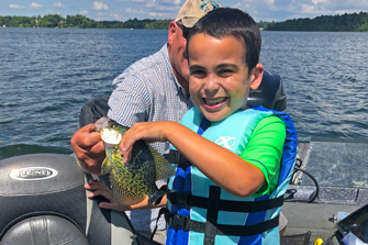 image of ben with nice crappie