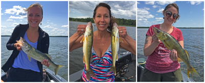 image of women with walleyes