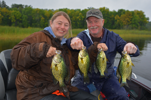 image of Laura and Tom with big crappies