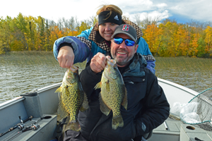 image of bev and randy swenson with big crappies