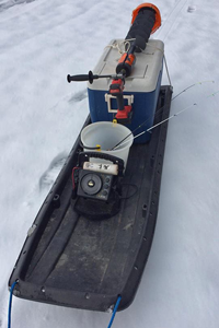 image of ice fishing gear