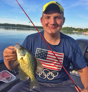 image of nathan bird with nice crappie