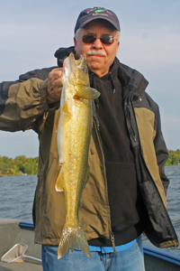 image of Terry Wickstrom with nice walleye