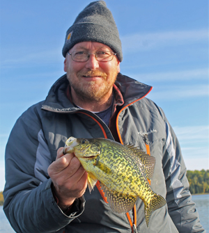 image of Dennis Rule with nice crappie