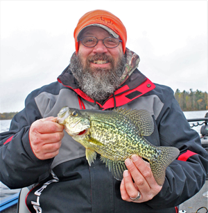 image of angler with nice crappie