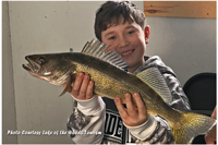 image of nice walleye caught by youngster