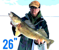 image of walleye caught on bowstring lake