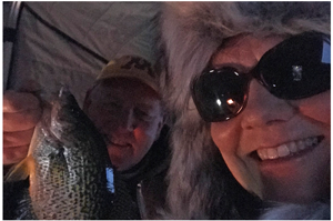 image of jeff and susan with big crappie