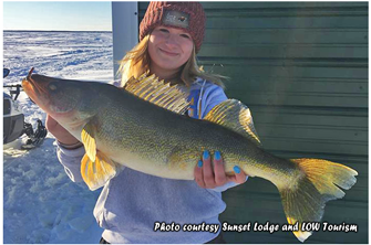 image of woman with big walleye
