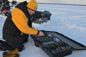 image of ice fishing rod case