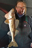 image of Joelle bellamy with nice sauger