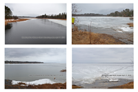 image of ice conditions on 4 lakes
