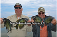 image of Paul Kautza and dick Williams holding big crappies