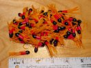 Tube Skirts 1-1/2 inch Yellow-Red-Black 100 pack