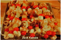 Image links to the recipe for duck skewers