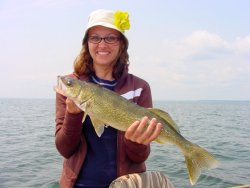 Anna Nosal with a great Winnie Walleye